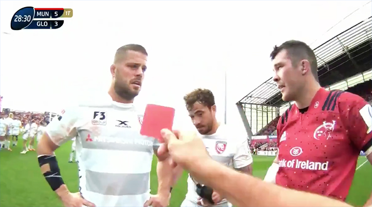 WATCH: Danny Cipriani Red Carded For Hit On Munster's Rory Scannell