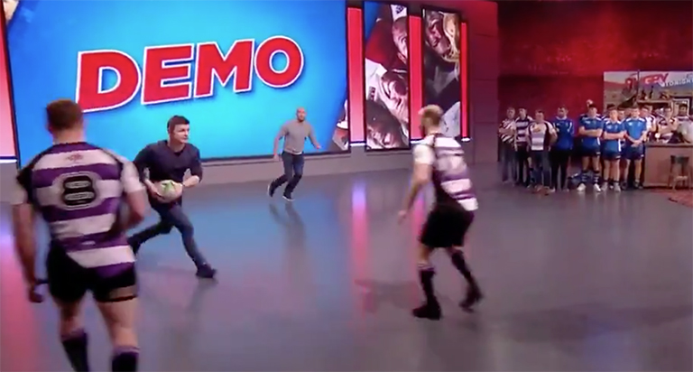 WATCH: Brian O'Driscoll Proves He's Still Got It With Offload Masterclass Demo