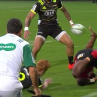 Crusaders Winger Pulls Of The Single Greatest Offload In The History Of Rugby