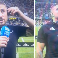 WATCH: TJ Perenara Stops Post-Match Interview To Pay Respect In Amazing Fan Moment