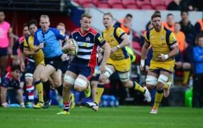 Mitch Eadie of Bristol Rugby goes on a run. - Mandatory by-line: Alex James/JMP - 26/12/2016 - RUGBY - Ashton Gate - Bristol, England - Bristol Rugby v Worcester Warriors - Aviva Premiership
