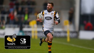 Photo: Richard Lane/Richard Lane Photography. Sale Sharks v Wasps. Aviva Premiership. 19/02/2017. Wasps' Willie Le Roux in action.