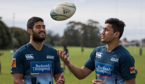 15092016 News Photo: Peter Meecham/ Fairfax NZ Akira, left, and Reiko Ioane who both play for Auckland, The Blues and the NZ Sevens team have played rugby their whole lives together for various teams.