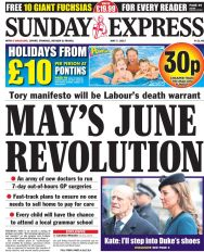 Sunday-Express-news-paper-front-page-Sunday-7th-May-2017-SundayThoughts-paperstoday