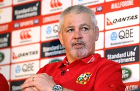 REPRO FREE***PRESS RELEASE NO REPRODUCTION FEE*** British & Irish Lions Coaching Team Announcement for 2017 Tour to New Zealand, Carton House, Co. Kildare 6/12/2016 WARREN GATLAND today announced the coaching team for the British & Irish Lions 2017 Tour to New Zealand. Steve Borthwick (England), Andy Farrell (Ireland) and Rob Howley (Wales) will assist Gatland for the 10-game Tour next June and July. The trio will work with their respective countries for the RBS 6 Nations before joining the Lions ahead of the Squad Announcement on April 19, 2017. The Lions Management Team will be announced in early January. Pictured Head Coach Warren Gatland during today's press conference Mandatory Credit ©INPHO/Dan Sheridan