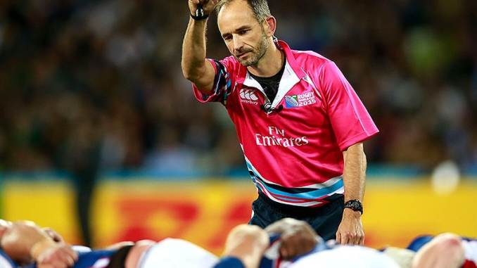 Romain Poite who will oversea the final All Blacks v Lions test