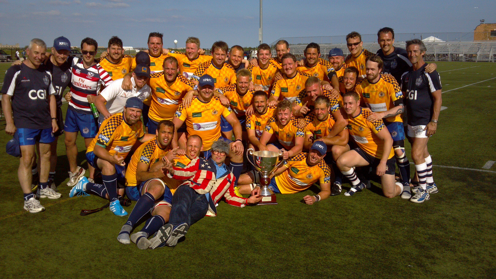 Liberty Cup Winners London Metro Police with Johnathan Wicklow Barberie of RugbyWrapUp 2