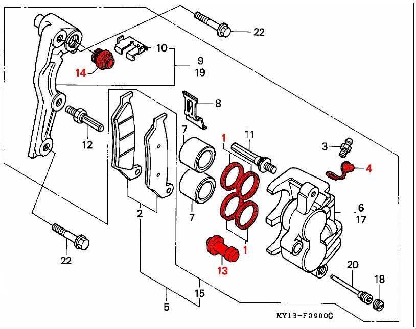 Full Seal Rebuild Kit for Front Calipers XRV750 Africa