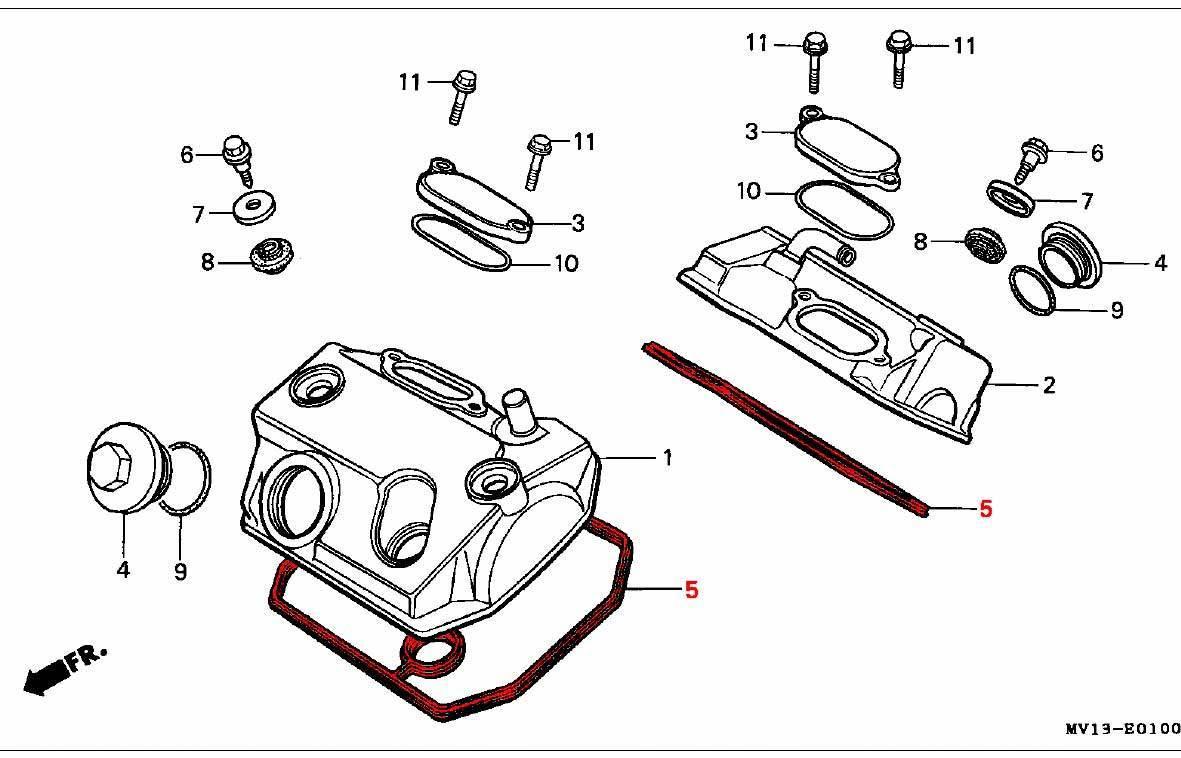 OEM Honda Gasket, Head Cover RD03/04/07/07A (1988-03