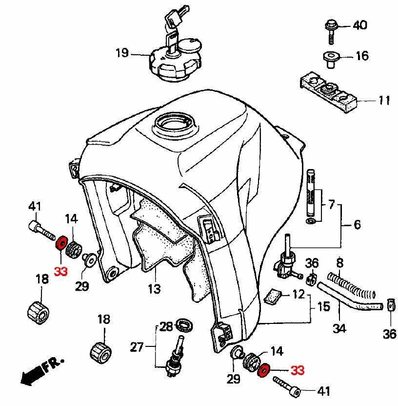 OEM Honda Fuel Tank Mounting Washer RD04 (1990-92