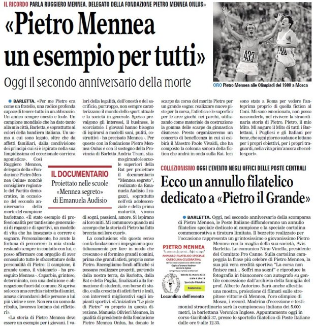 Gdm_bt_21 marzo_ricordo Pietro Mennea