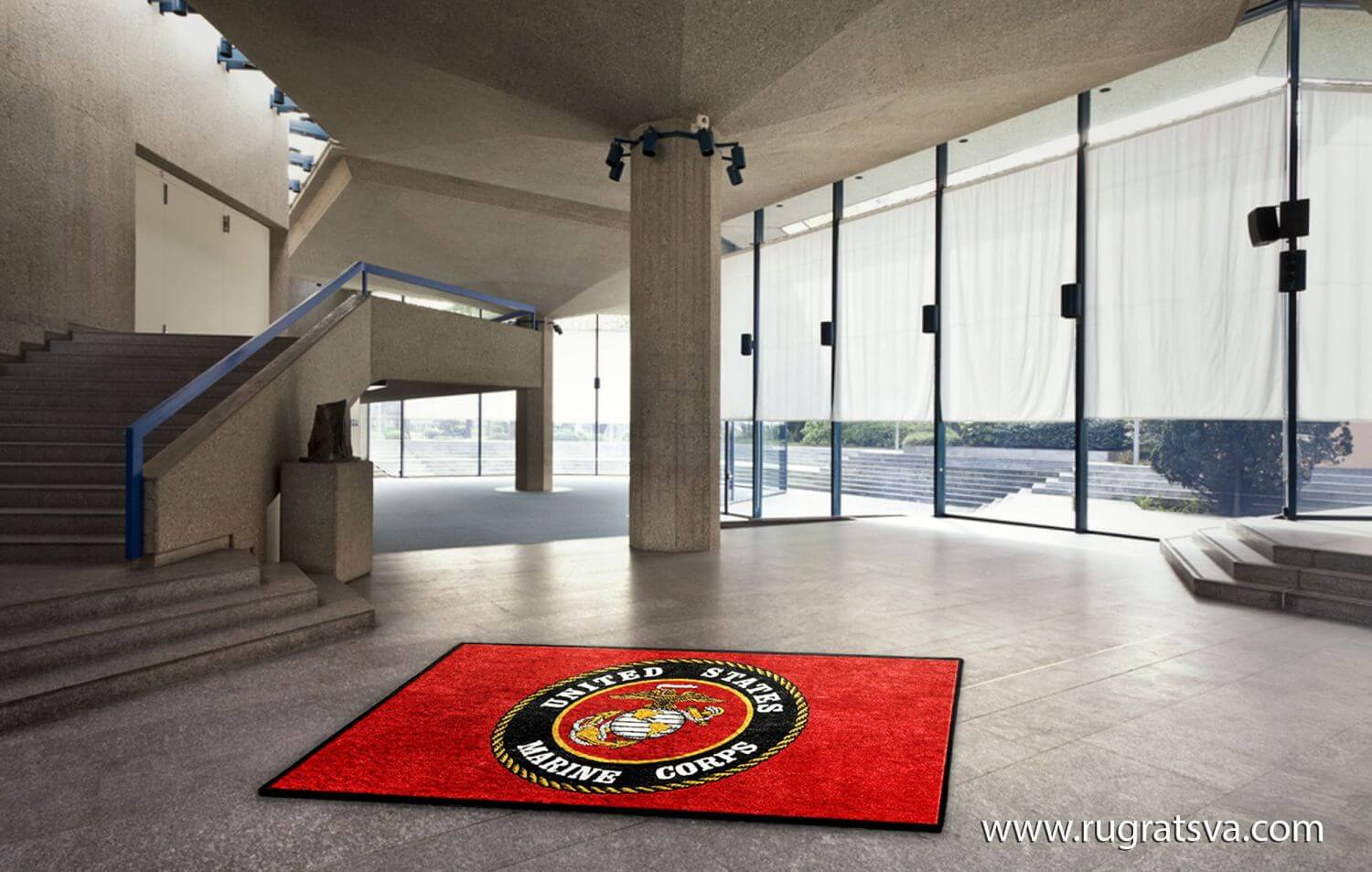 Buy US Marine Corps Logo Rugs Online Rug Rats