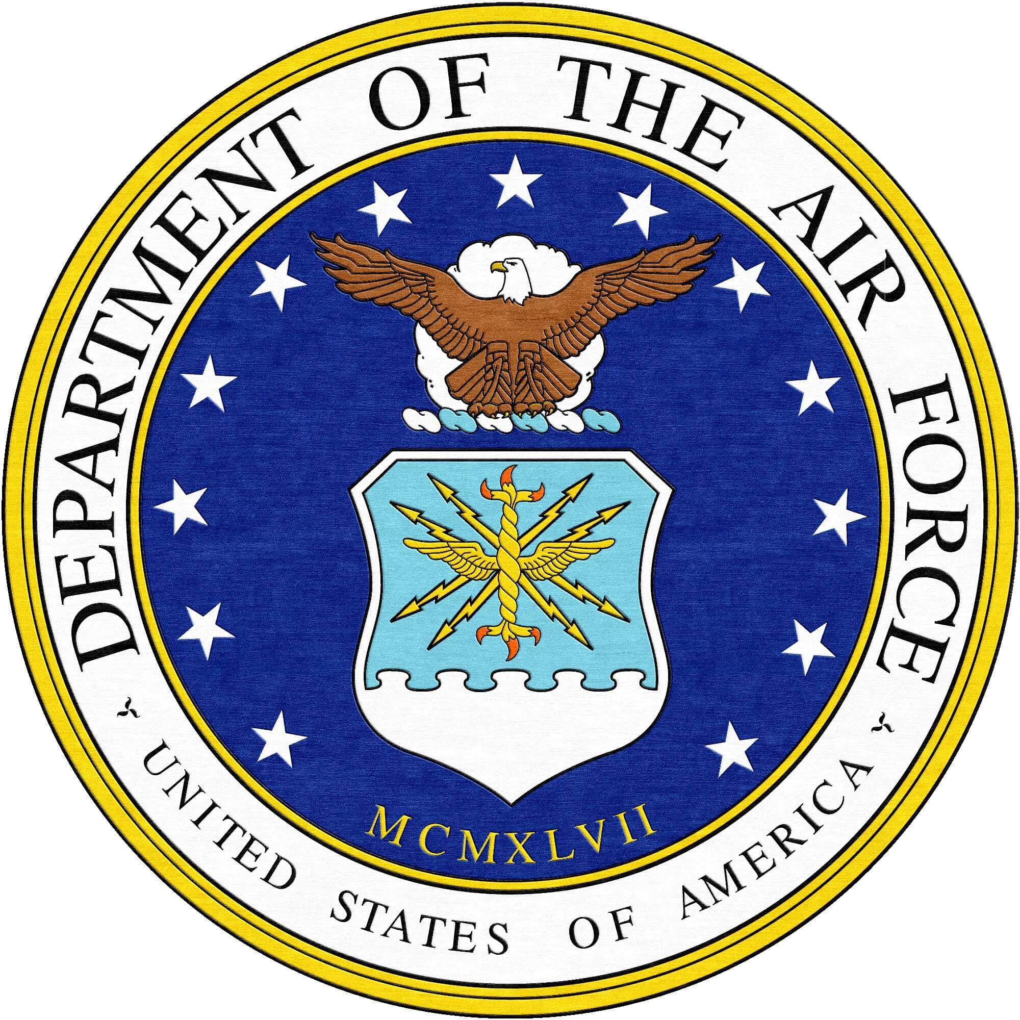 Us Air Force Round Logo Rug Rug Rats