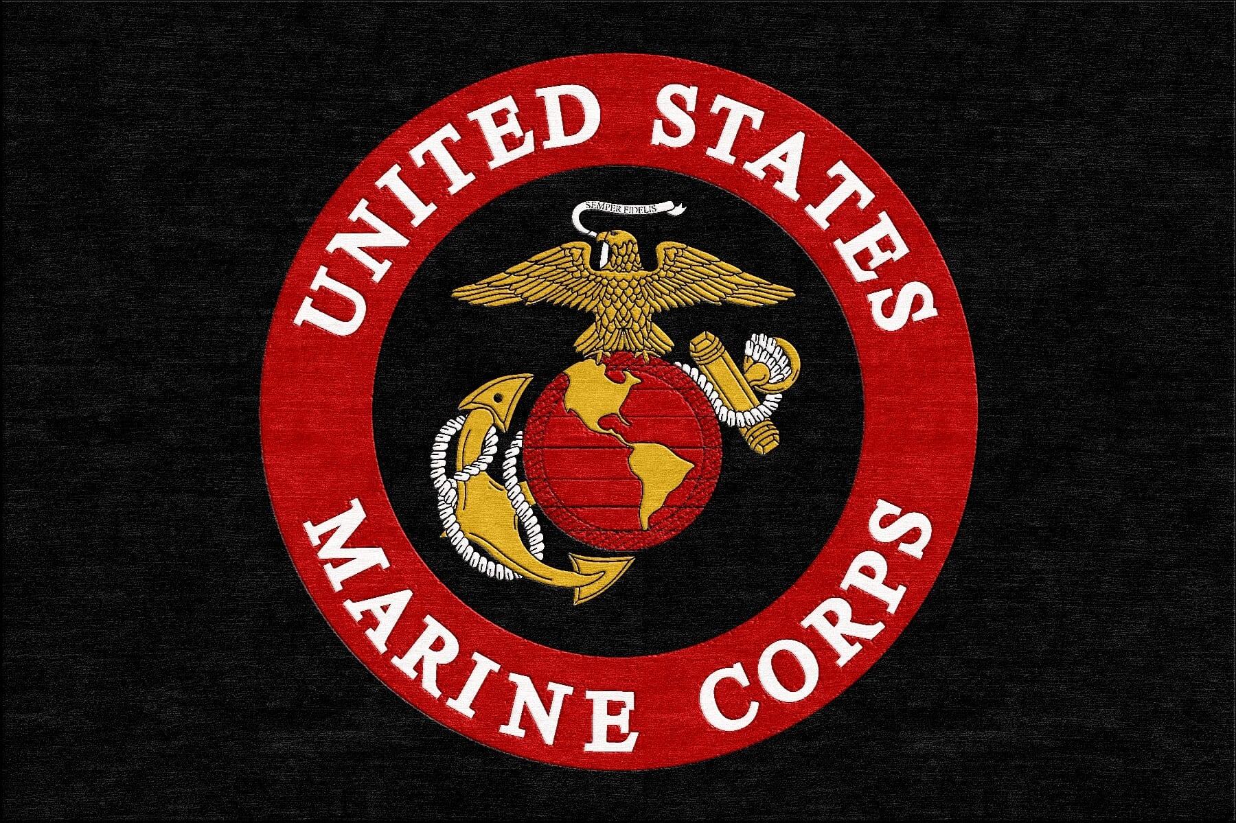 marine corps logo rug