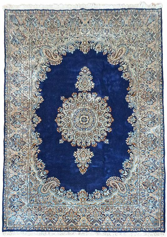 Navy Blue 6 7 x 9 10 Kerman Persian Rug  Persian Rugs