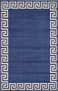 Navy Blue 5' x 8' Greek Key Rug | Area Rugs | eSaleRugs
