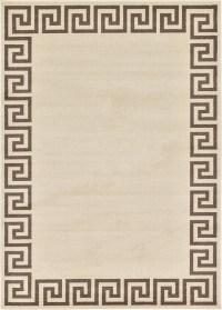 Beige 7' x 10' Greek Key Rug | Area Rugs | iRugs UK