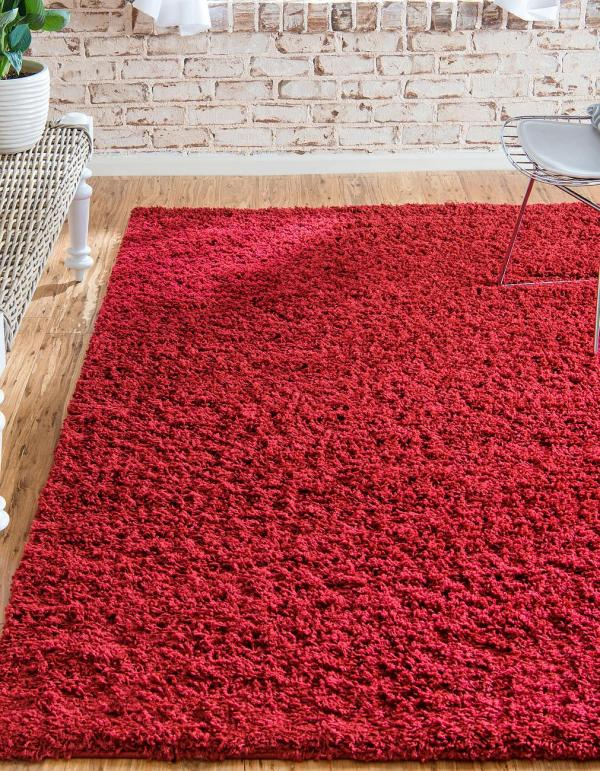 Soft Fluffy Area Rugs Red