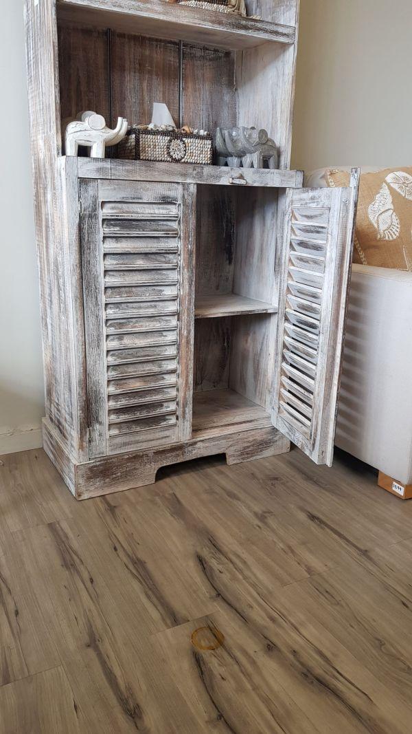 ID 06 Alsip Book Case With 2 Doors & 3 Shelves Acacia Wood