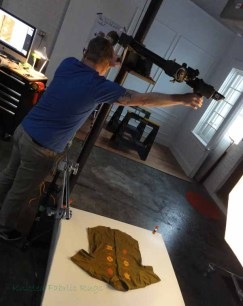 Kip Dawkins setting up a shot.