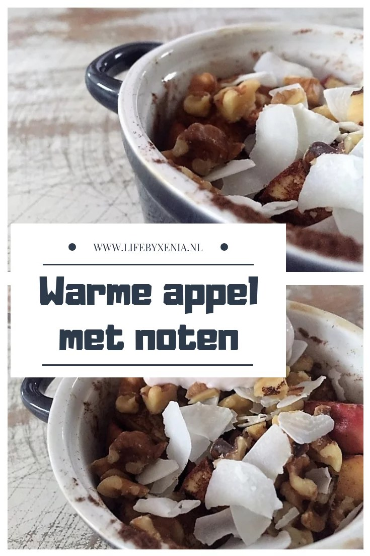 Warme appel met noten