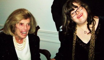 Sara Ruh meeting Eunice Shriver