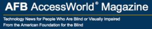 AFB Access World Magazine