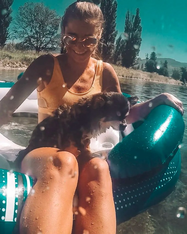 Free things to do near Kelowna British Columbia Canada. Penticton River Float is a blast and close to the Okanagan Valley Canada! One of the best things to do in Kelowna Canada on a hot summer day!