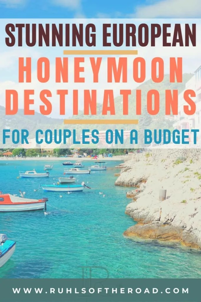 Stunning European honeymoon destinations for couples on a budget! We have created a list of the top honeymoon destinations in Europe that are affordable, beautiful and romantic. Take a stunning honeymoon, romantic honeymoon and an affordable honeymoon to these beautiful European destinations for a bucket list trip of a lifetime!