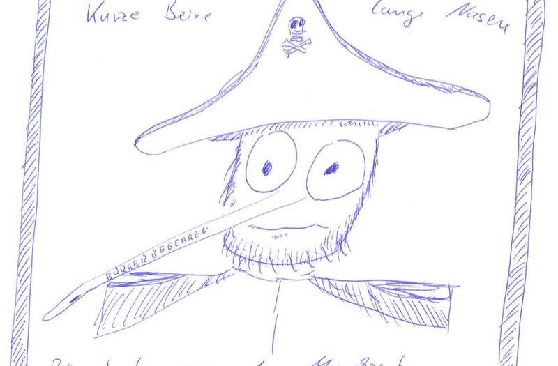 Pirat mit langer Nase