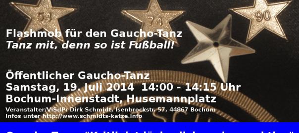 Aufruf zum Flashmob in Bochum