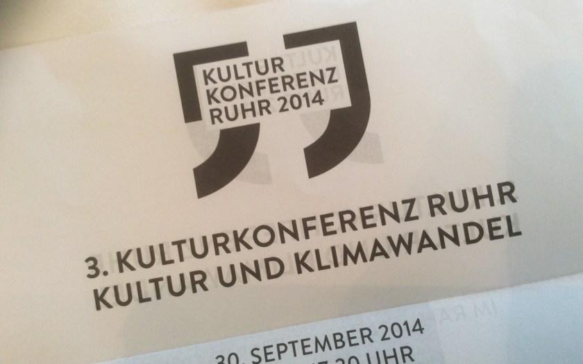 Kopf der Einladung zur 3. Kulturkonferenz Ruhr