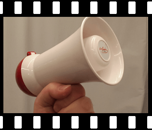 Mini-Megafon - elektrisches Tutehorn