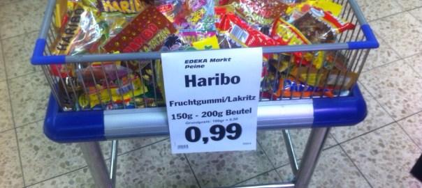 Gummibärchen Angebot? Nein, das ist der alte Preis.