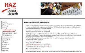 HAZ berät bei allen Fragen rund um ALG II (Screenshot: RuhrkanalNEWS)