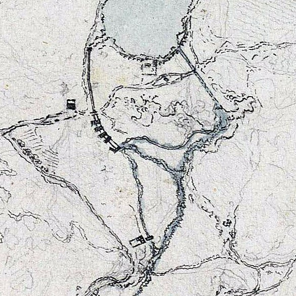 Entorno de Ruidera dibujado por Juan de Villanueva