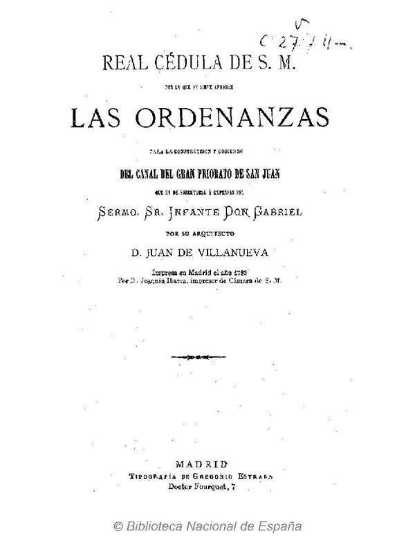 Ordenanzas del Canal del Gran Priorato de San Juan