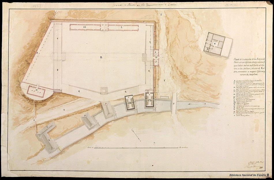 Planta del proyecto de fábrica de pólvora en Ruidera