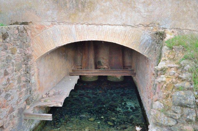Socaz de la central hidroeléctrica de El Ossero
