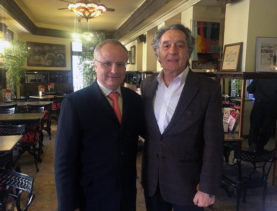Con Pedro Moleón Gabilanes