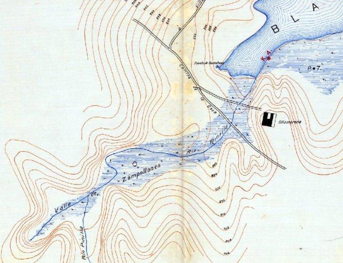 La fuente del Borbotón en el año 1916, en el Parque Natural de las Lagunas de Ruidera
