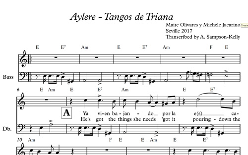 Free Music Score for Flamenco Song – Tangos de Triana