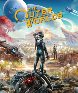 "Cover of ""The Outer Worlds"" by Obsidian, 2019"