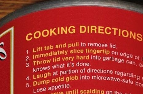 The Most Honest Canned Soup Directions You Will Ever Read