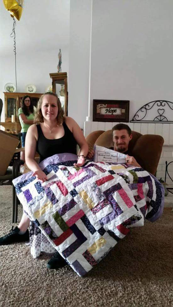 This Couple Got A Handmade Quilt As A Wedding Gift And The Design Is Questionable