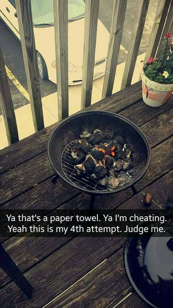Lets All Laugh At This Girls Snapchat Story Of Grilling