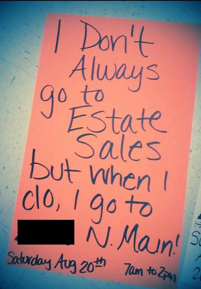 The Signs For This Garage Sale Deserve Your Appreciation