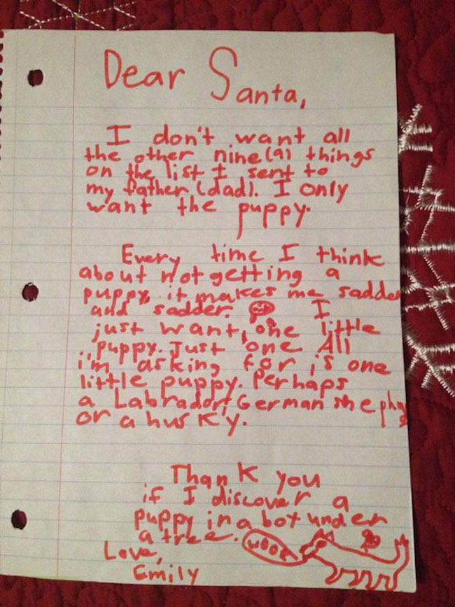 'Tis The Season For These Very Funny Letters To Santa