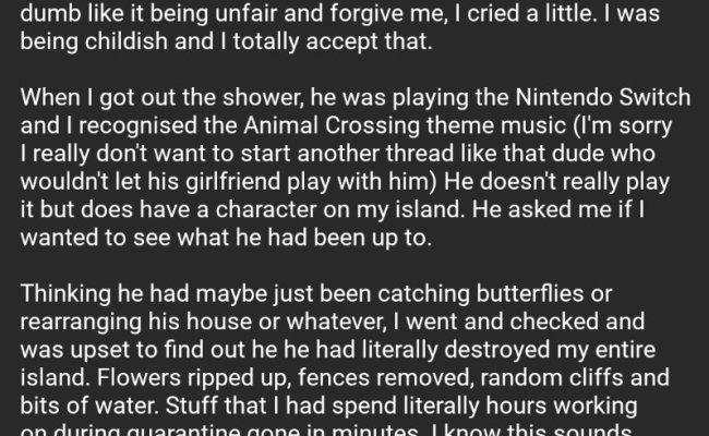 Woman S Boyfriend Destroys Her Animal Crossing Island