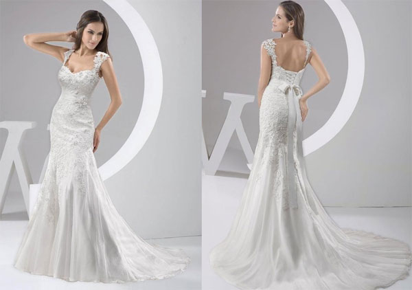 Review GEORGE BRIDE Chapel Train Wedding Dress (Sexy